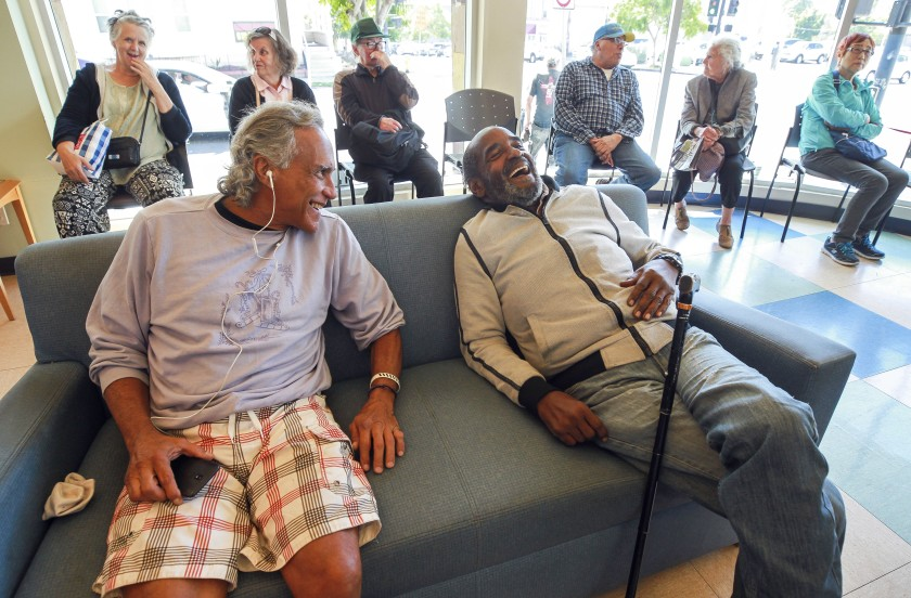 seniors socializing at the Gary and Mary West Senior Wellness Center