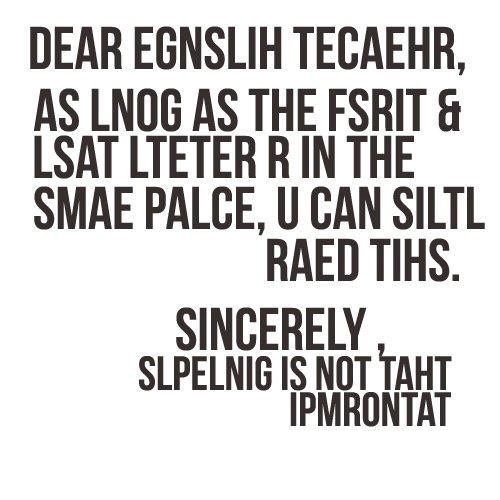 The Importance of Spelling