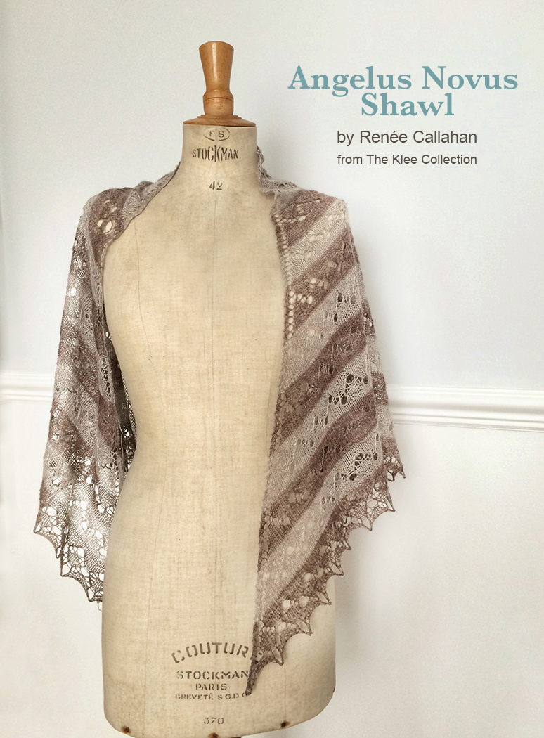 Angelus Novus shawl in new BEYUL lace