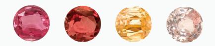 range of hues