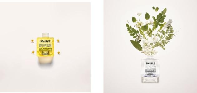 Calendula, Lavendel, Jasmin und Strohblume, sowie Akazienblätter ... L'Oréal Professionnel hat eine eigene Quelle von Shampoos und ätherischen Ölen. Um sicherzustellen, dass diese Beifügungen die Klarheit der Formeln nicht beeinträchtigen und in Suspension bleiben, hat L'Oreal Laboratories ein sehr rigoroses Verfahren eingeführt. Um sicherzustellen, dass die Beifügungen gleichmäßig in einer wässrigen Lösung verteilt sind, haben die Forscher einen Naturkautschuk identifiziert - Gellan -, der innerhalb der wässrigen Lösung eine unsichtbare Struktur erzeugt.