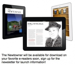The Newtowner will be available for download on your favorite e-readers soon.