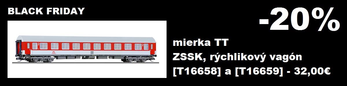 Zľava 20% na rýchlikové vagóny ZSSK Tillig 16658 a 16659