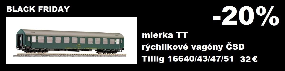 Rýchlikové vagóny ČSD Tillig 16640, 16643, 16647, 16651