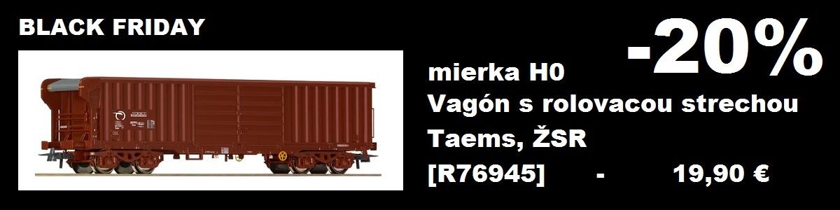 zľava 20% na vagón Taems, ŽSR (mierka H0), kat. č. ROCO 76945