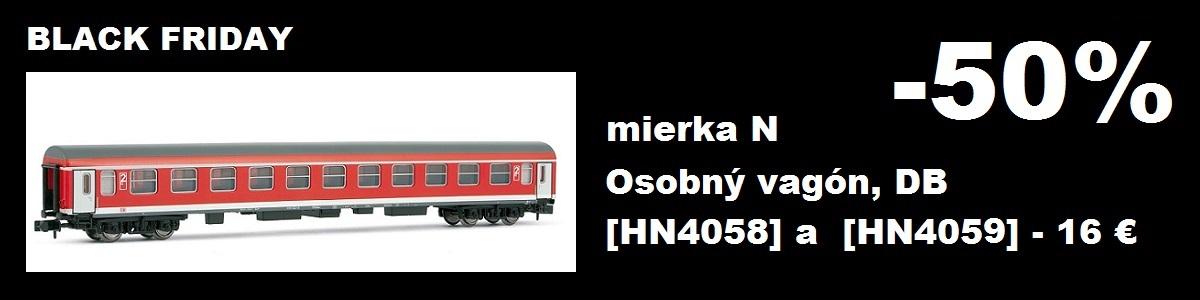 Zľava 50% na osobný vagón Arnold 4058 a 4059