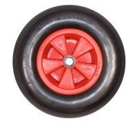 Flat Free Solid Trolley Wheel 16