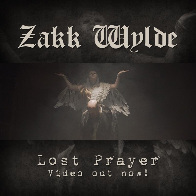 "ZAKK WYLDE DEBUTS ""LOST PRAYER""MUSIC VIDEO BOOK OF SHADOWS II OUT NOW"