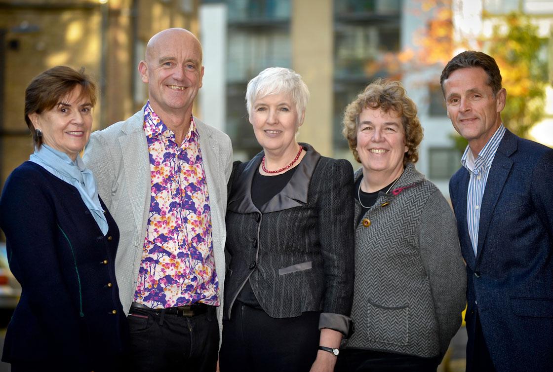Dame Moira Gibb, Dr Andrew Turnell, Professor Eileen Munro, Viv Hogg and Terry Murphy