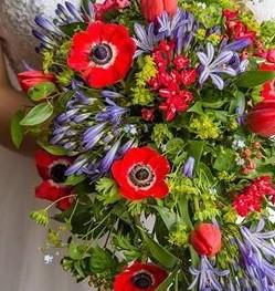 Shower Bride Bouquet featuring Anemone