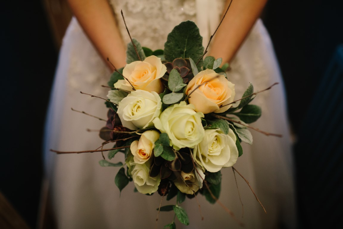 Winter Wedding White Roses