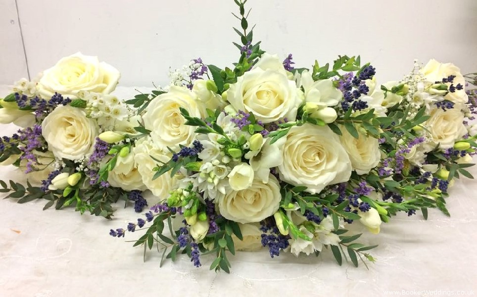 Rustic Wedding Bride and Matching Bridesmaids Hand Tied Just Picked Bouquet