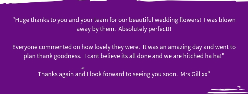 Wedding Flowers Review from Happy Bride