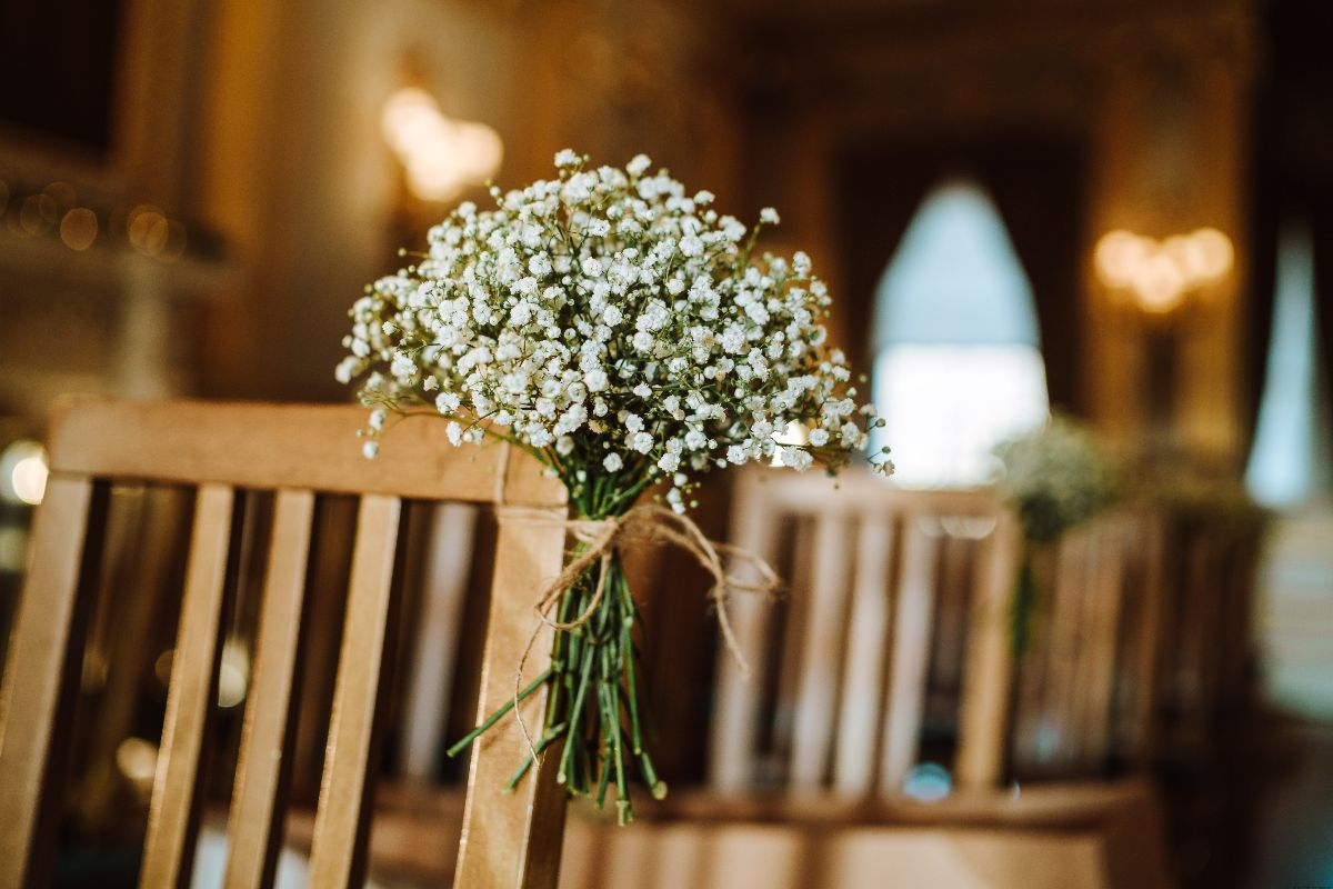 Gypsophila Pew Ends at Knowsley Hall