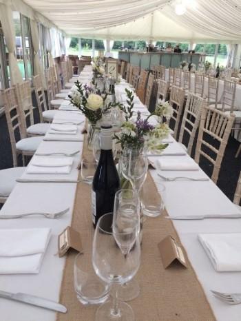 Rustic Wedding Tables in Speke Hall