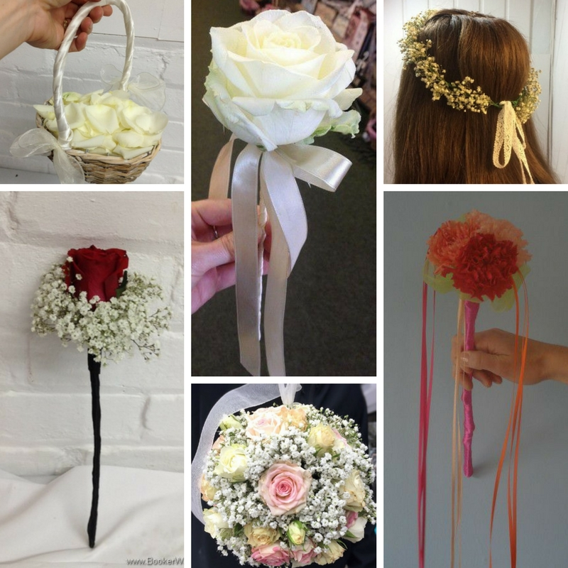 Wedding flowers for flower girls