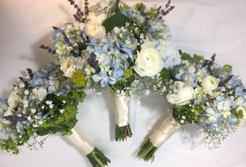 Bride and Bridesmaid Hand Tied Bouquets
