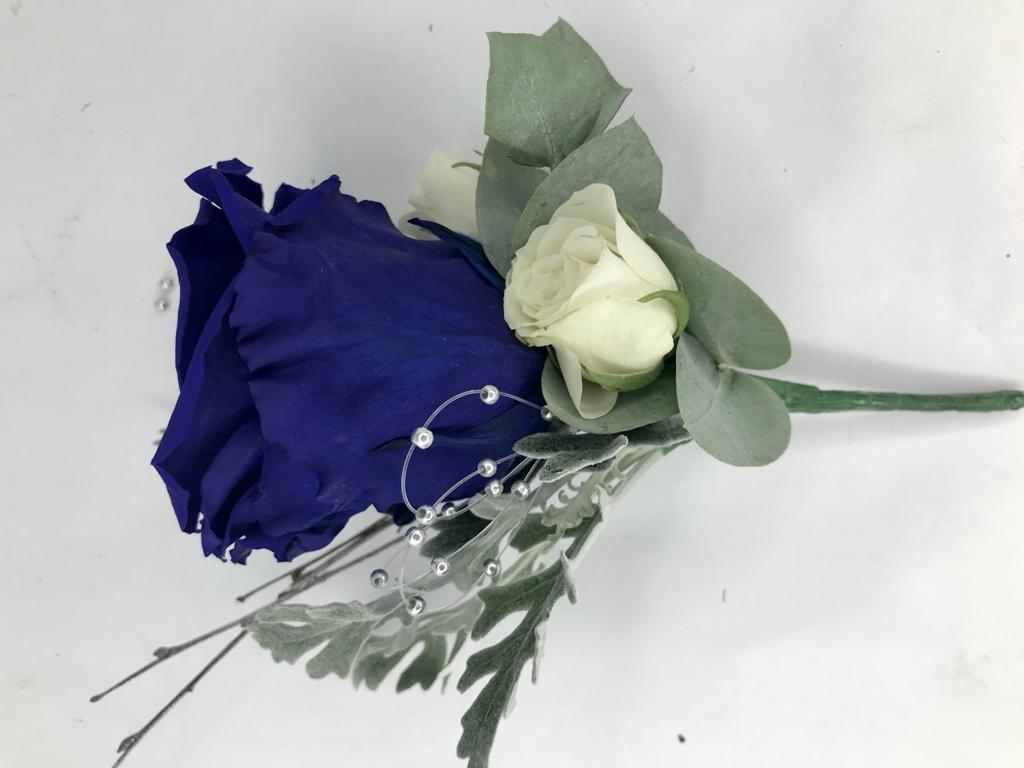 Beautiful Blue Rose Buttonhole
