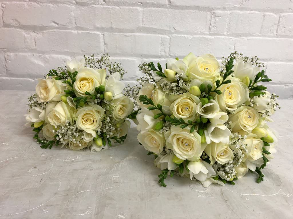 White Winter Wedding Flowers