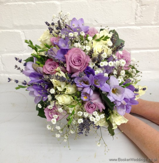 Hand Tide Bridal Bouquet featuring Freesia