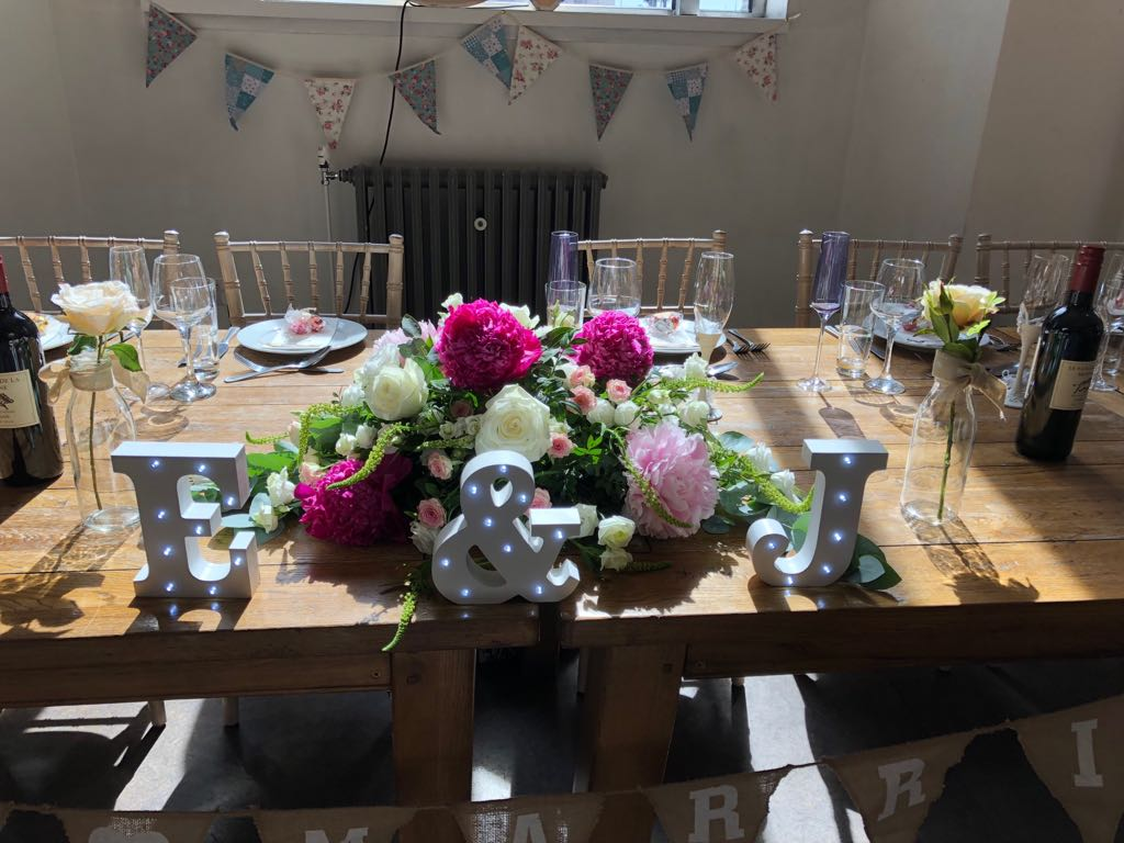 Top Table Arrangement at Oh Me Oh My Liverpool