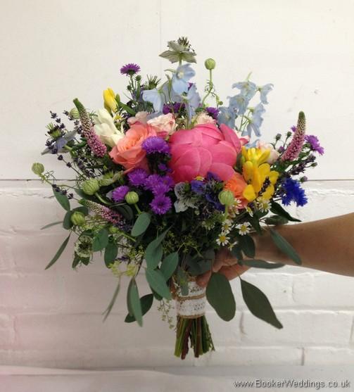 Coral Bride Handtied Bouquet