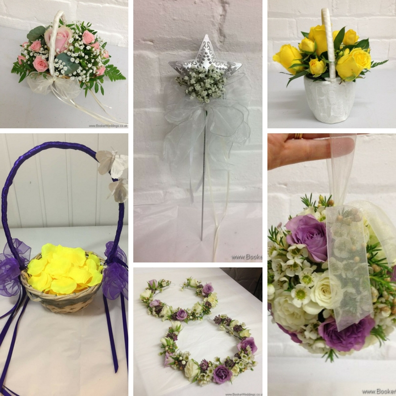 Wedding flowers for young bridesmaids
