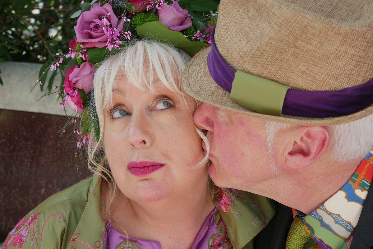 Green and Purple Flower Headdress