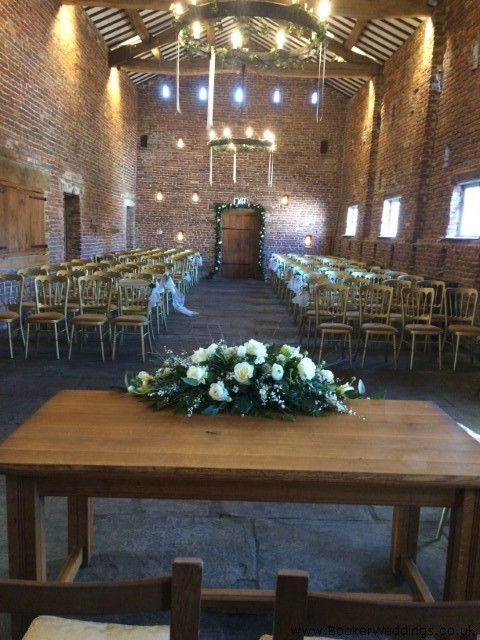 White and Green arrangement at Meols Hall