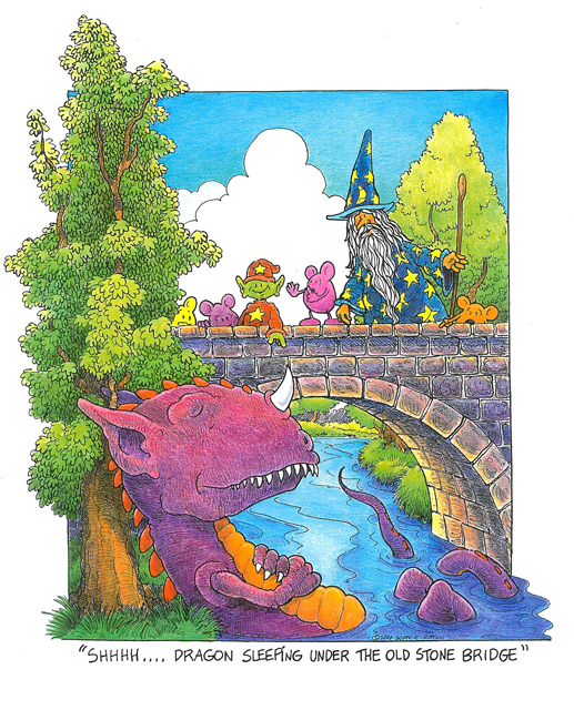 """Shhhh.... Dragon Sleeping Under the Old Stone Bridge"" by Scott E. Sutton"