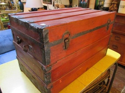 Handcrafted Red Trunk
