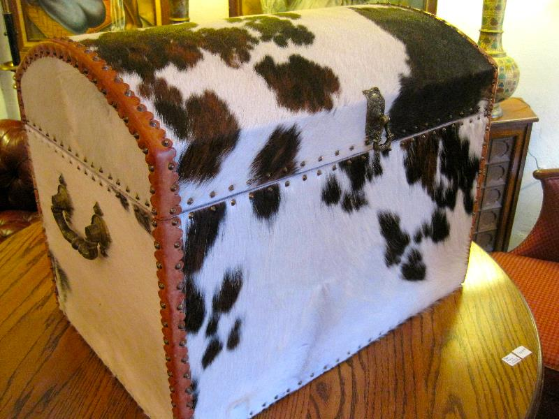 Custom Made Cow Hid Trunk