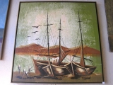 Sail Boat Painting by Fadik