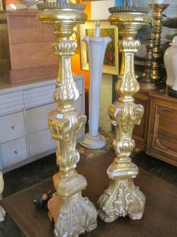 Gilded Candle Sticks | Casa Victoria LA