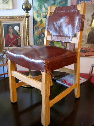 1930s Hand Carved Monterey Chair
