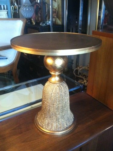 Tassel Side Table With Gold Leaf Finish