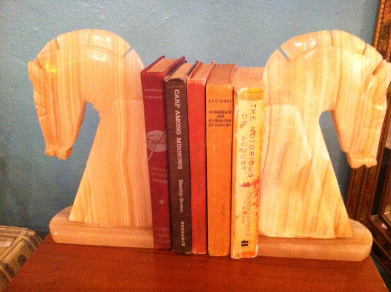 Pair of Marble Horse Bookends