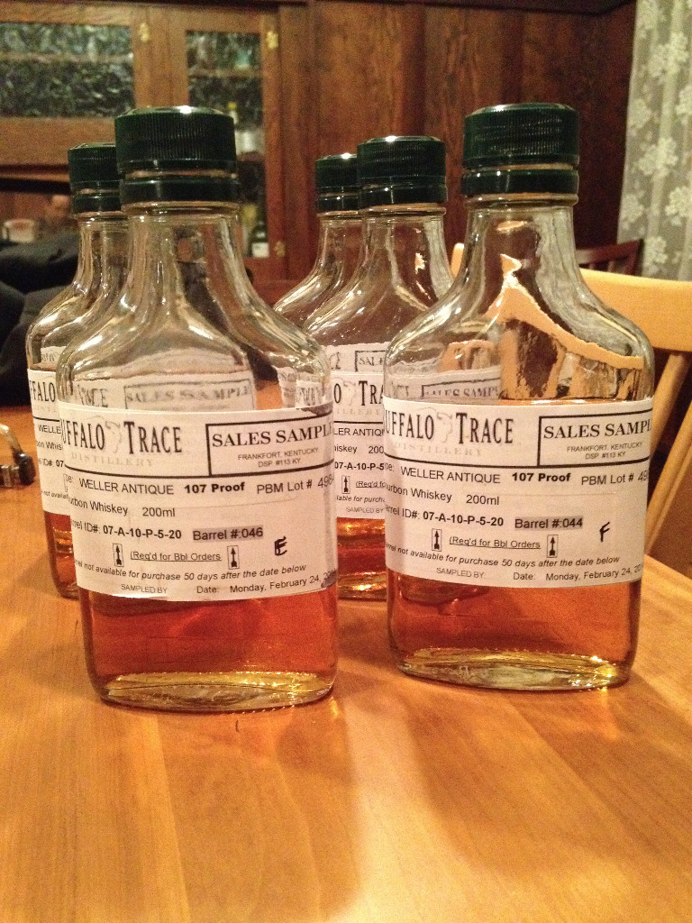Old Weller Antique Barrel Samples