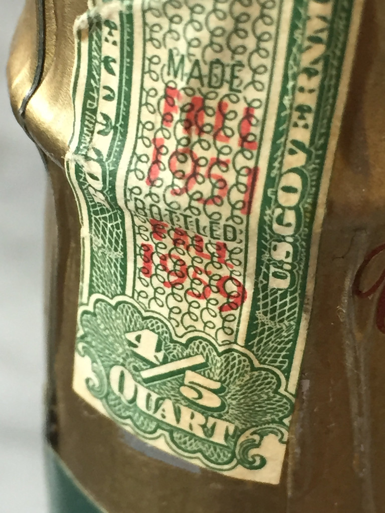 Tax seal from a pre-prohibition bottled-in-bond Bourbon
