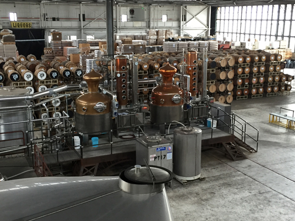 The view from above: Stills and barrels aging at St. George