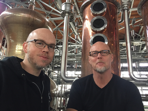 Dave Smith and Lance Winter, distillers @ St. George