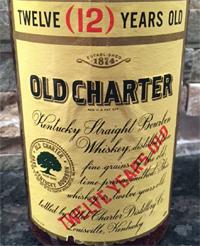 Old Charter 12, not BIB but one of the first extra old Bourbons bottled after the Forand Bill. Image: whiskeyid.com