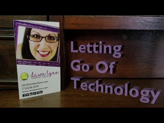 Letting go of Technology