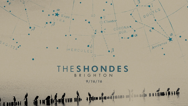 BRIGHTON -- New Record by THE SHONDES -- 9.16.16