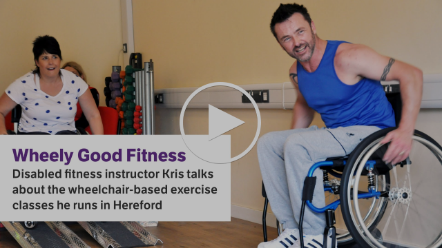 Exercise classes for disabled people - disabled fitness instructor Kris's story - Scope video