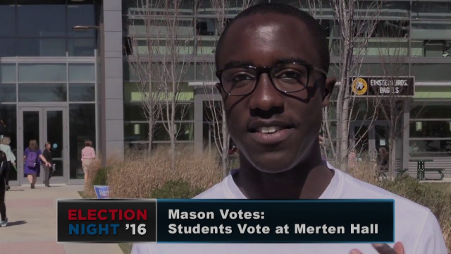 Mason Votes: Students Vote at Merten Hall