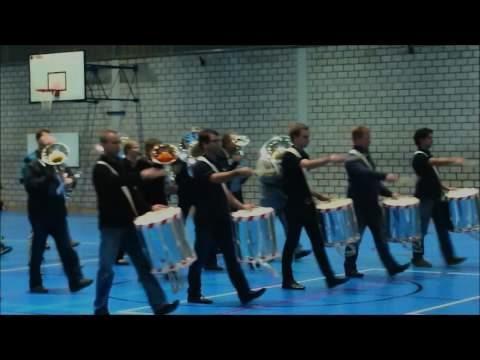 Parademusik mit Tambour-Major Stock