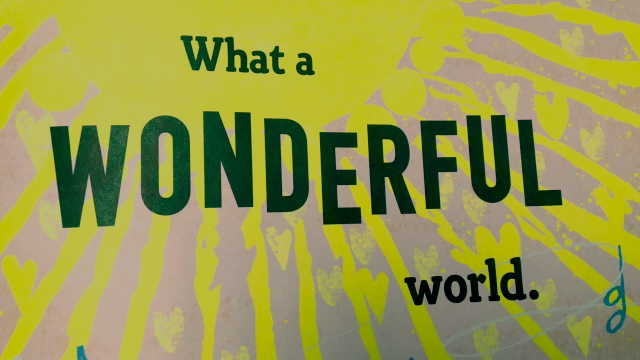 What A Wonderful World Art Montage