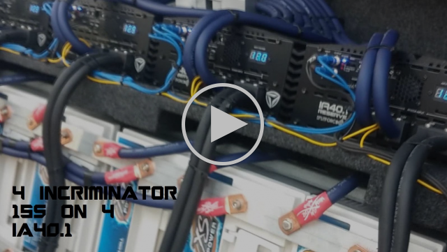 Crazy Bass Install With 4 Incriminator 15s on 4 Incriminator IA40.1s - Rob's Custom Car Audio Show