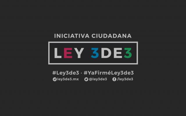 Iniciativa ciudadana Ley 3de3